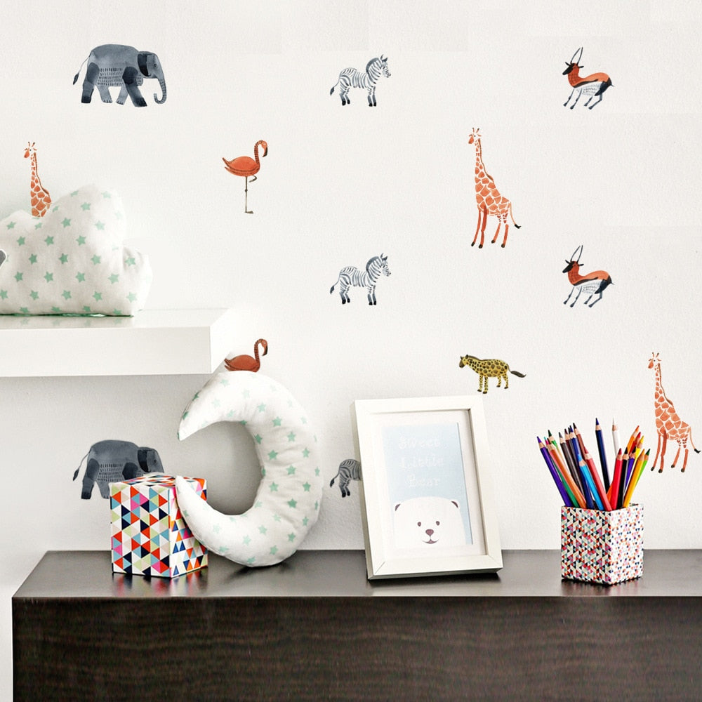 Colorful  Zoo Animal Wall Decals - My Urban One