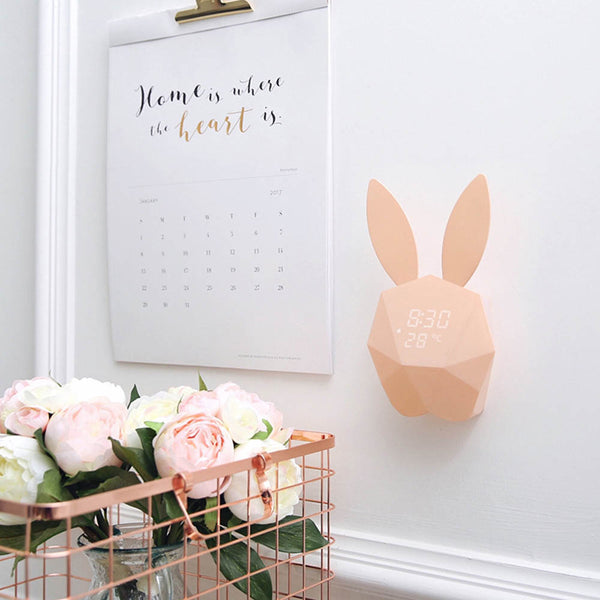 """Honey Bunny"" Nursery Digital Clock and Thermometer - My Urban One"