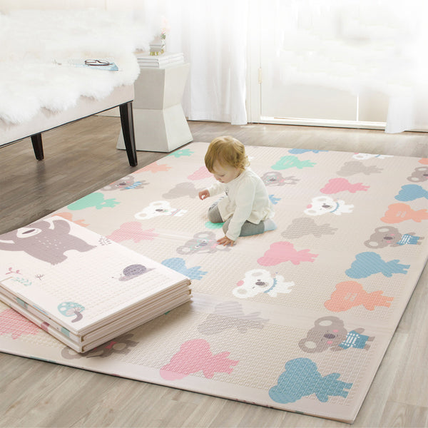 Folding Play Mat - Double Sided Pattern - My Urban One