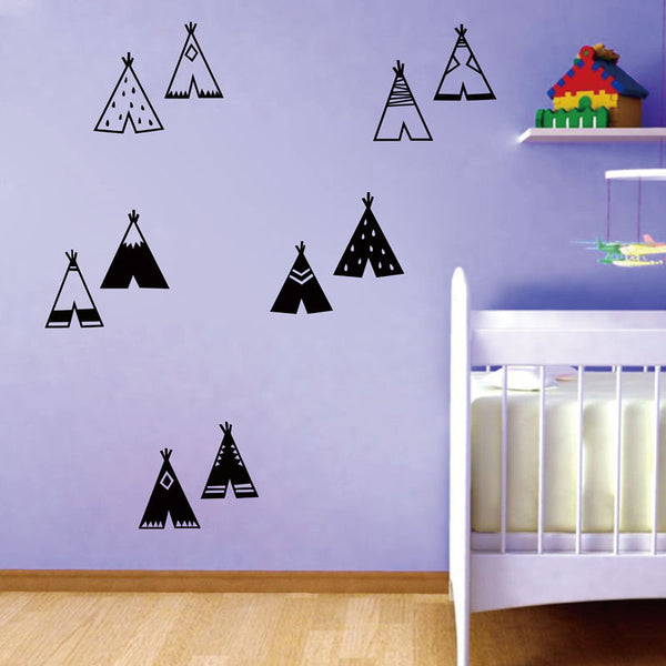 Nordic Style Teepee Wall Decals - My Urban One