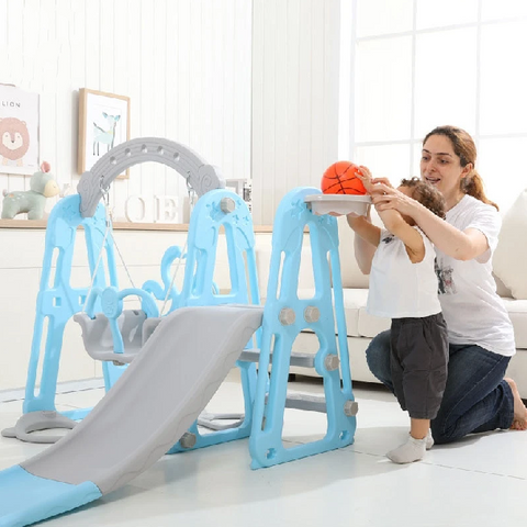 Kids Indoor Playground Multifunctional Slide Swing - My Urban One