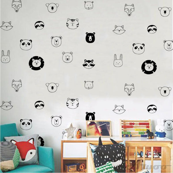 Animal Lineup Wall Decals - My Urban One
