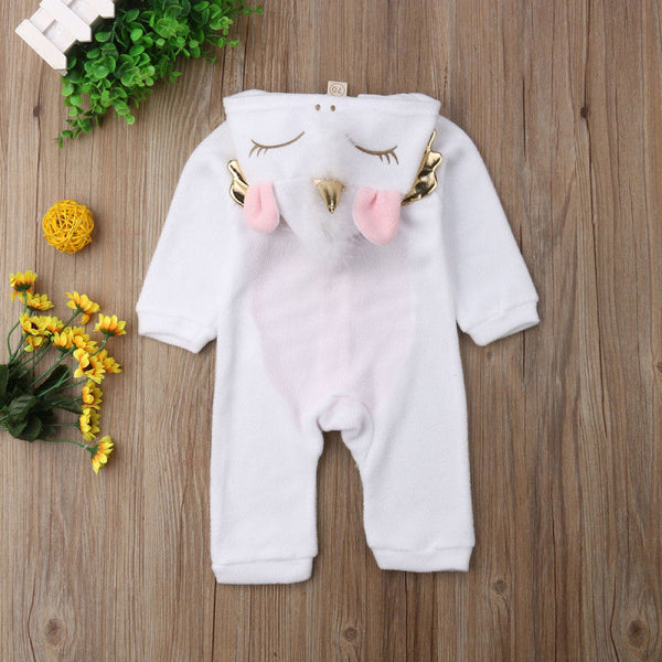 Unicorn Flannel Romper Jumpsuit - My Urban One