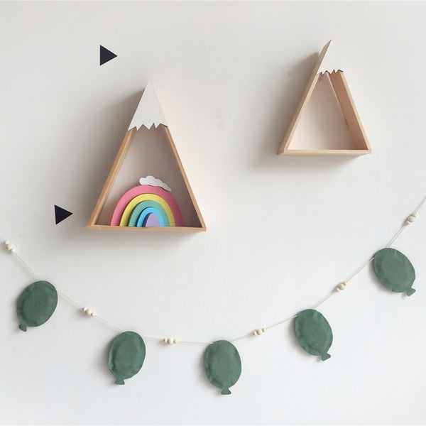 Wooden Rainbow Blocks Nursery Room Decor - My Urban One