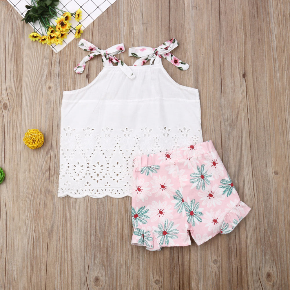Summer Sleeveless Blouse and Floral Shorts - My Urban One