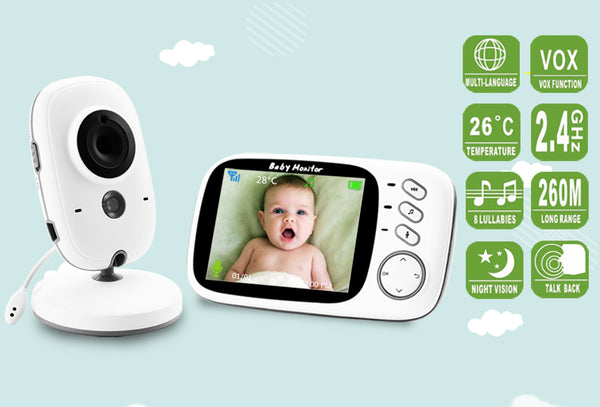 "Wireless Baby Monitor with 3.2"" LCD 2 Way Audio Talk - My Urban One"