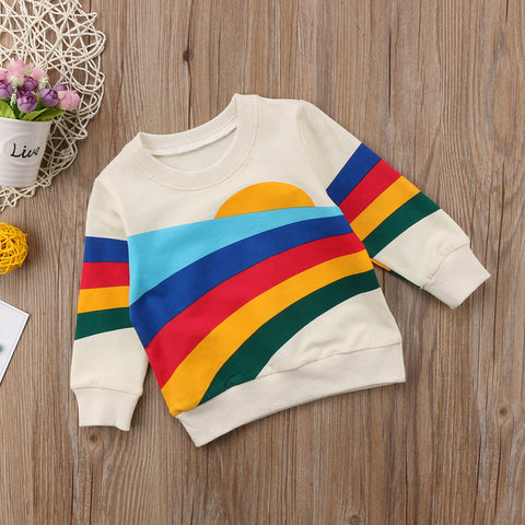 Rainbow Sweatshirt Top - My Urban One