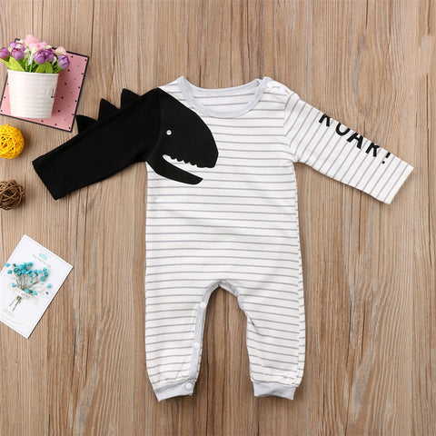 Striped Dinosaur Romper - My Urban One