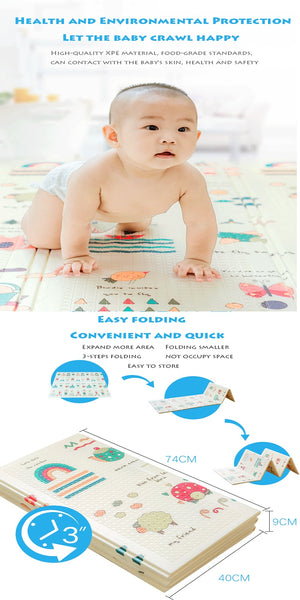 Folding Baby Play Mat - Waterproof - My Urban One