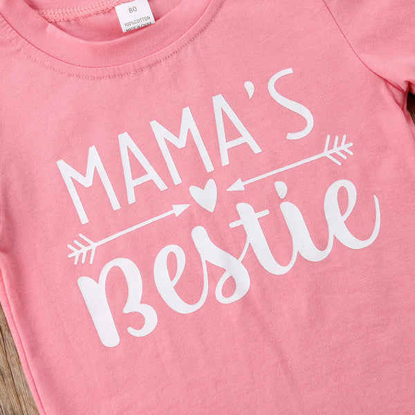 """Mama's Bestie"" Tee Tops - My Urban One"