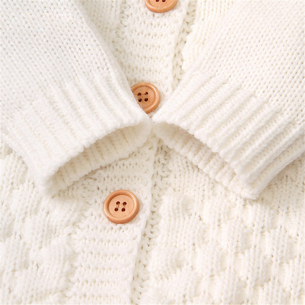 Knitted Cotton Hooded Romper - My Urban One