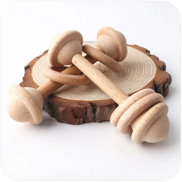 Baby Wooden Rattle Wood Teether - My Urban One