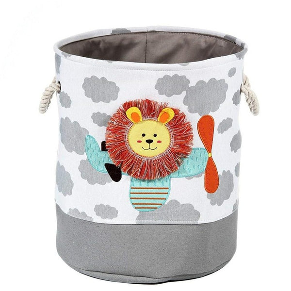 Lion Giraffe Cartoon Canvas Storage Basket - My Urban One