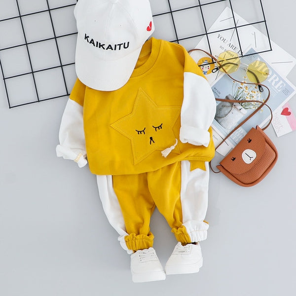 Baby Tracksuit Sets with Star Design - My Urban One