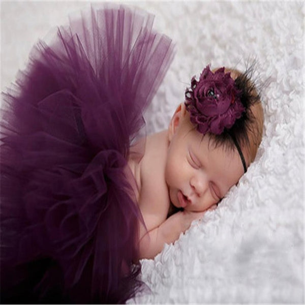 Baby Tutu Skirt And Headband Photography Prop - My Urban One
