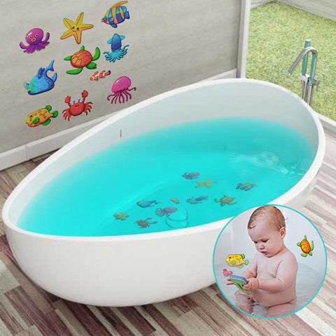 Anti-Slip Baby Shower Waterproof Ocean Fish Non-skid Adhesive Bathtub Stickers 10PCs/Set - My Urban One