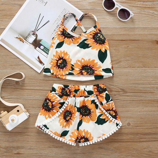 Sunflower Sleeveless Tank Tops and Shorts - My Urban One