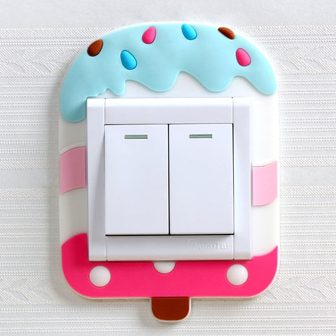 Cute Cartoon 3D Wall Silicon Luminous Switch Light Stickers - My Urban One