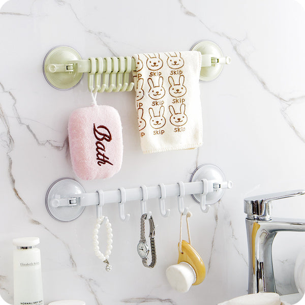 Wall Mounted Suction Cup Hook Bathroom Rack - My Urban One