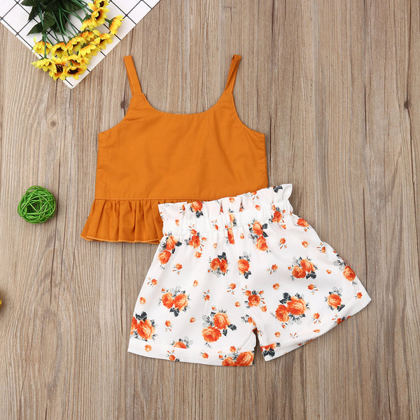 Summer Top and Floral Bow-knot Shorts - My Urban One