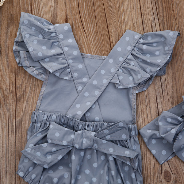 Cute Baby Girl Polka Dot Romper - My Urban One