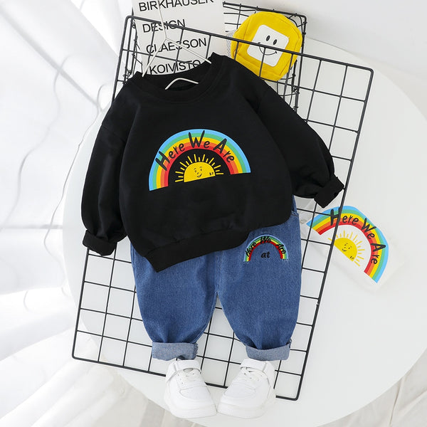 Rainbow Design Spring Clothes Outfits - My Urban One