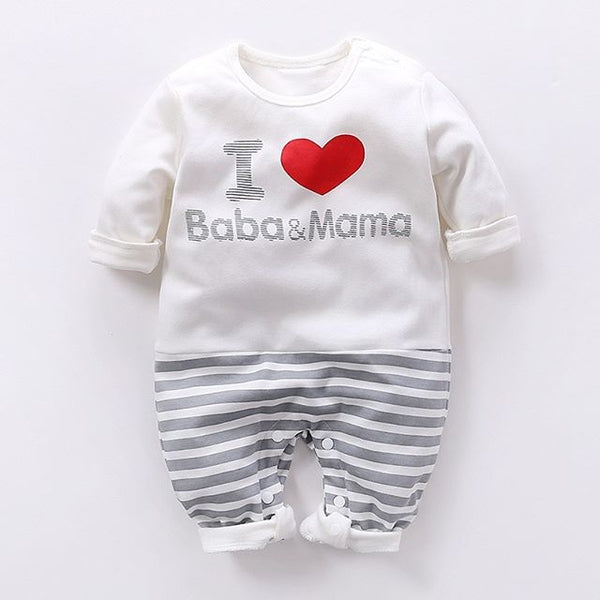 Stripe Elephant and Baba&Mama Romper - My Urban One