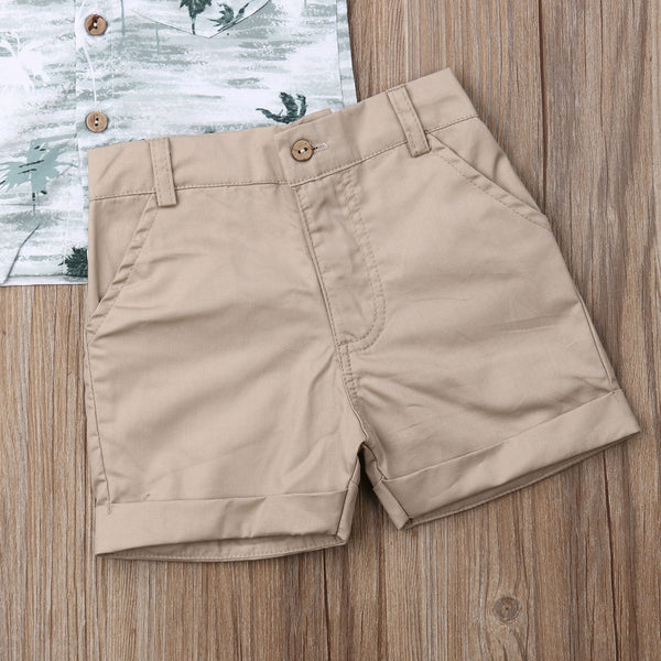 Summer Coconut Tree Tops T-shirt and Shorts Pants - My Urban One