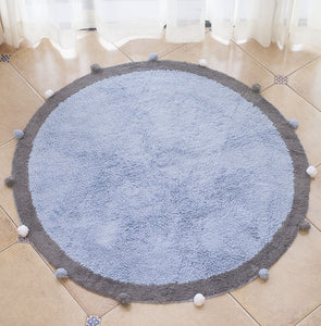 Thick Fleece Pom Pom Plush Play Mat Rug - My Urban One