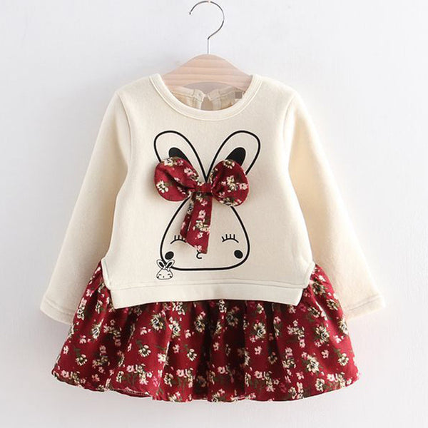 Floral Bunny Princess Dress - My Urban One