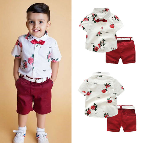 Bow Tie Shirt and Shorts Gentleman Style - My Urban One