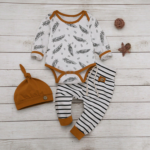 Stripes And Feather Autumn Set