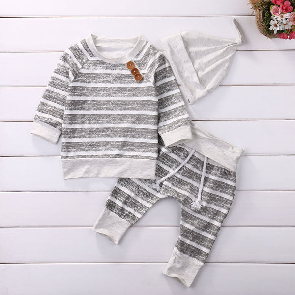Striped Autumn Clothes Set
