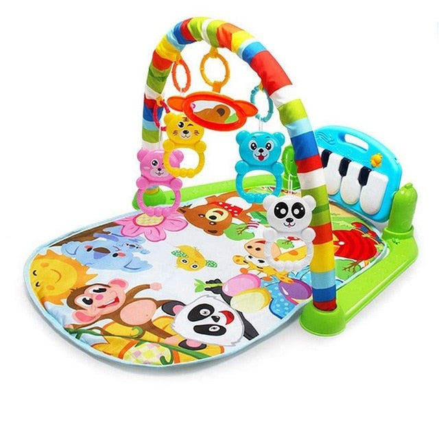Baby Play Mat With Rack Gym Toys and Piano Keyboard