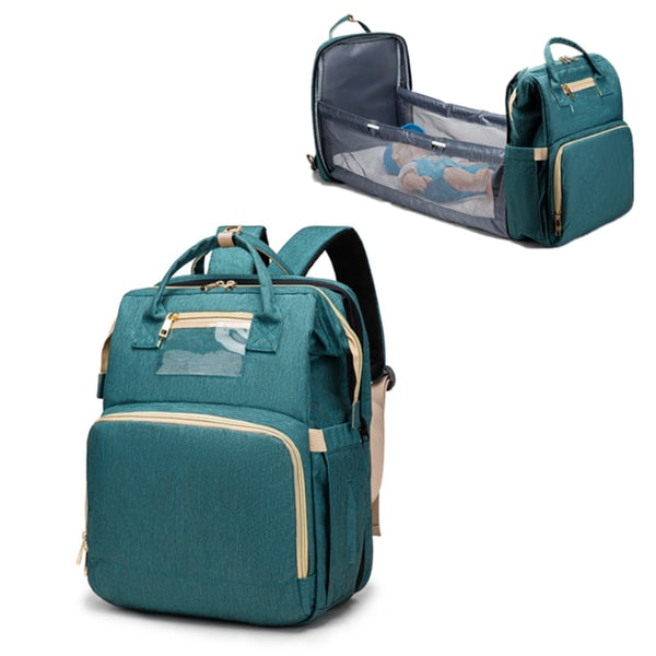 Diaper Bag Backpack with Portable Changing Station