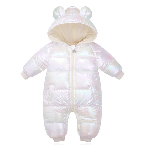 Baby Shiny Hooded Waterproof Jumpsuits