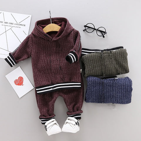 Long Sleeve Hoodie Sweatsuit Pants Outfit Set