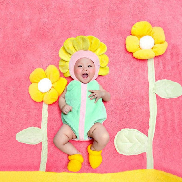 Newborn Sunflower Fleece Costume - My Urban One