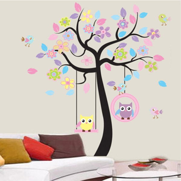 DIY Owl Bird Tree Wall Sticker - My Urban One
