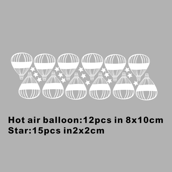 Hot Air Balloons Art Wall Stickers - My Urban One