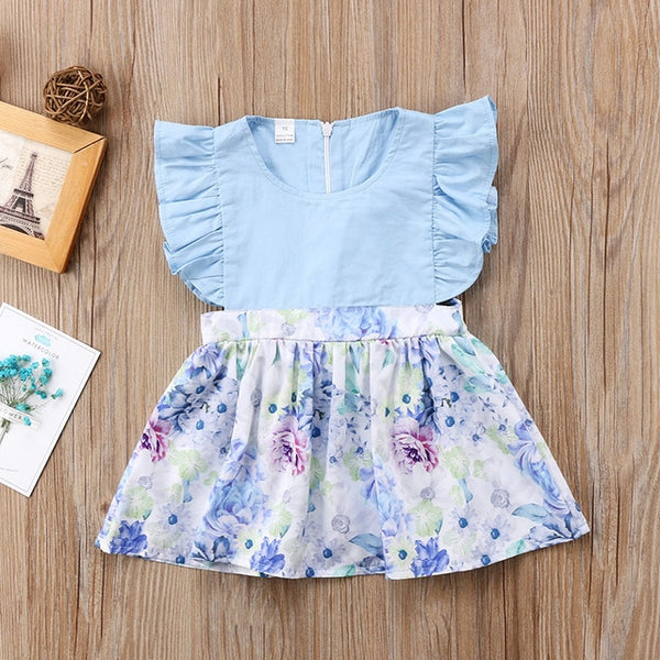 Flower Sleeveless Cotton Dress - My Urban One