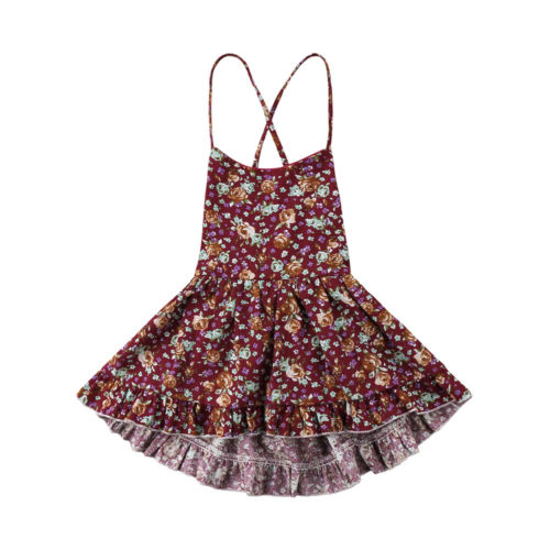 Summer Floral Backless Dress - My Urban One