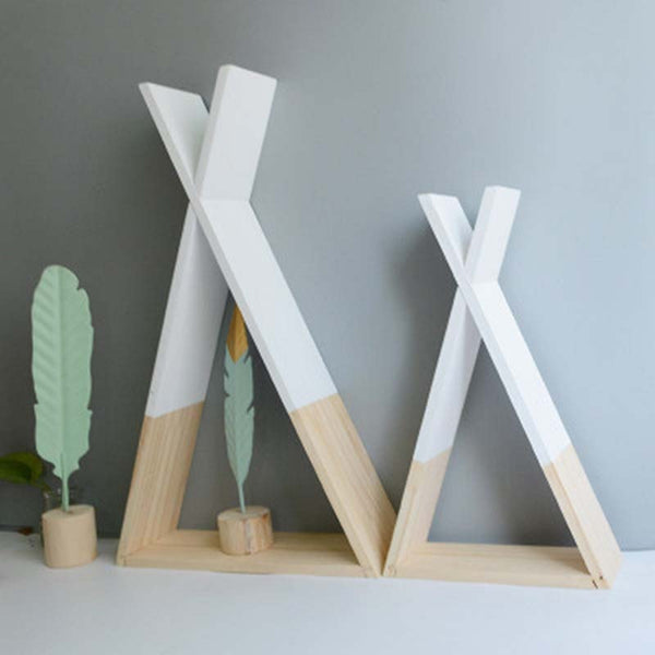 Nordic Style Baby Room Wooden Triangular Storage Shelves - My Urban One