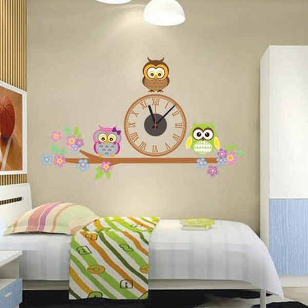 Owl Sticker Wall Clock - My Urban One