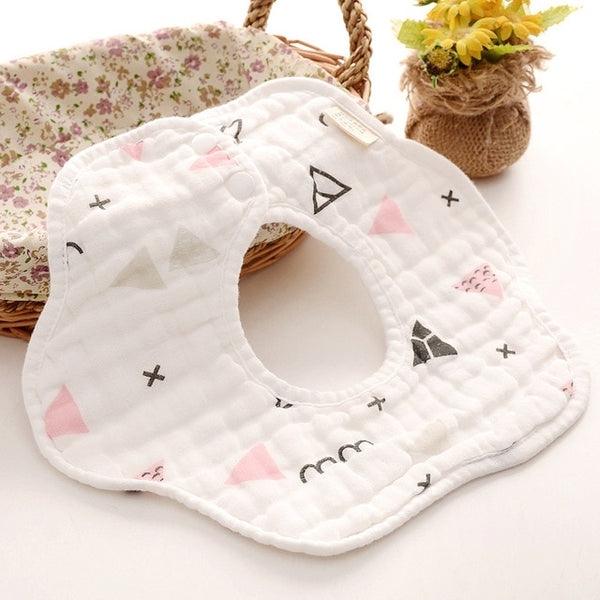 Rotating  Bibs Baby Cotton Bibs - My Urban One