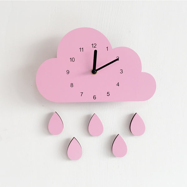 Nordic Style Nursery Wooden Cloud Clock - My Urban One