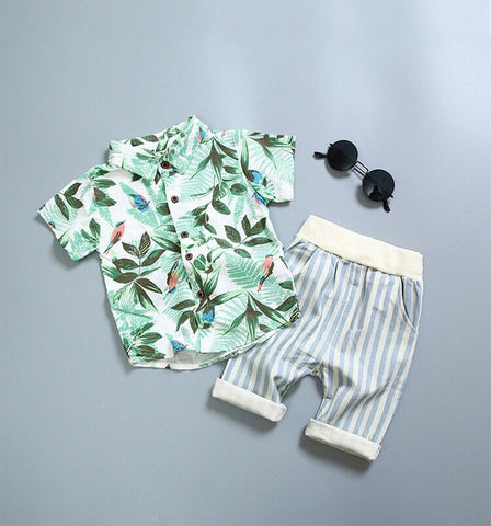 Summer Baby Boys Gentleman Style Shirt and Short - My Urban One
