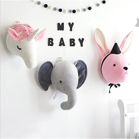 Plush Animal Wall Decoration - My Urban One
