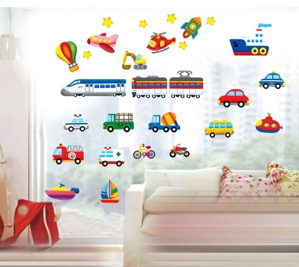 Cartoon Car Wall Decals - My Urban One