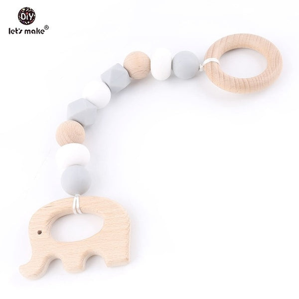 """Let's Play"" Wooden Baby Gym Rattles - My Urban One"
